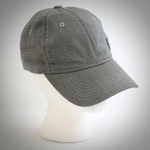 Original Penguin Plaid Baseball Hat Cap Gray White